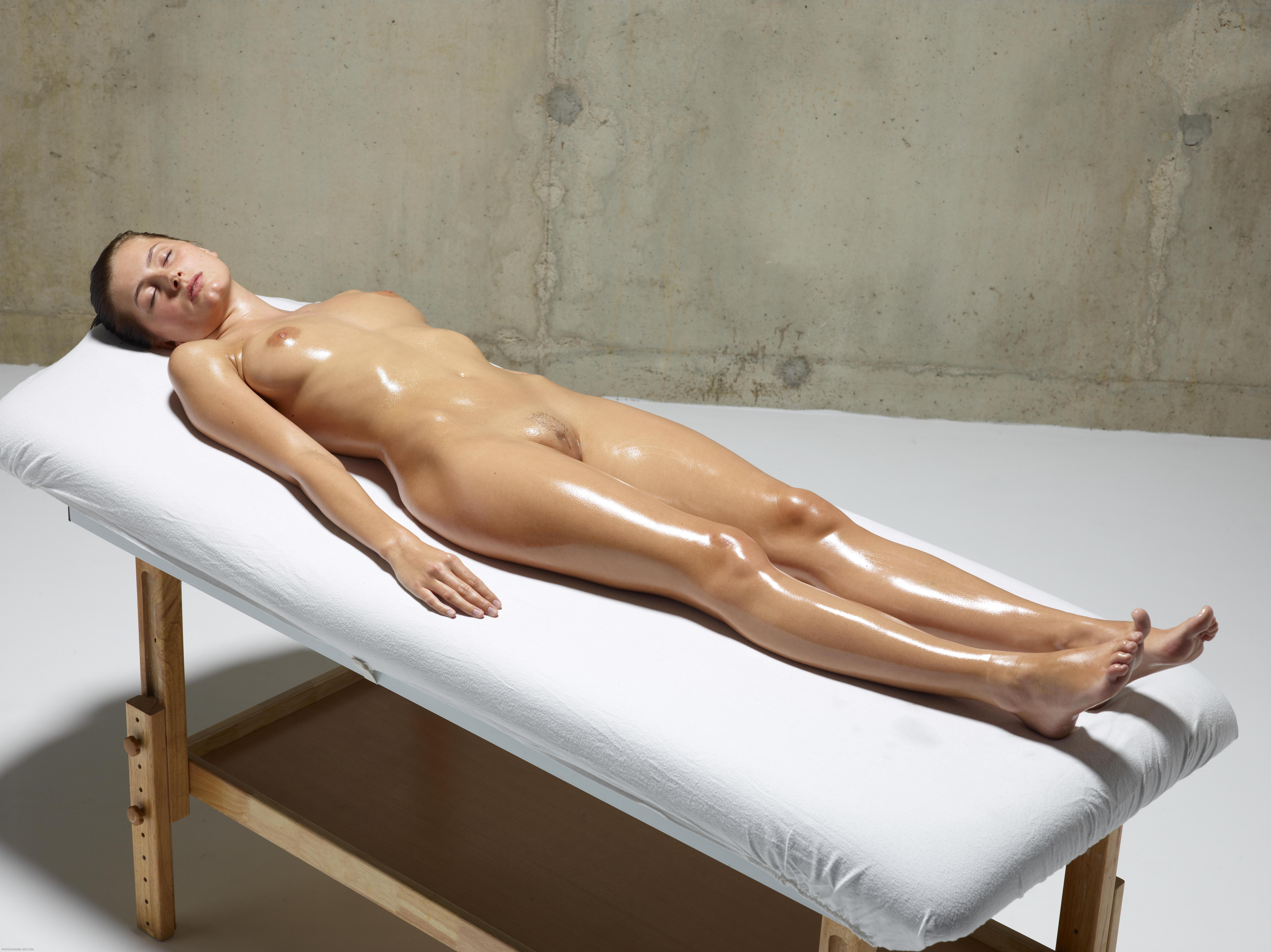 Lesbian oil massage 2 part 1 1