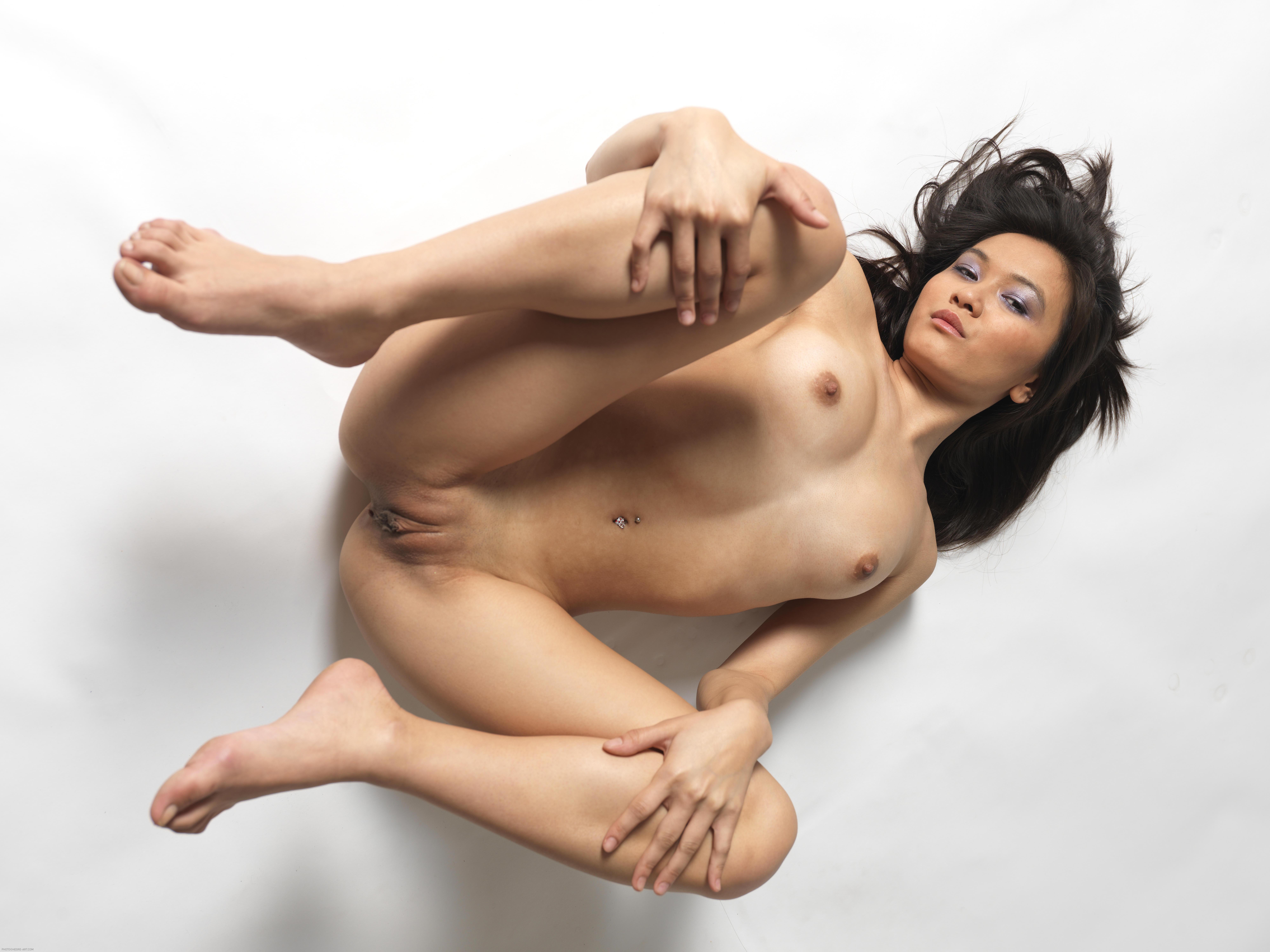 Asian model single naked images