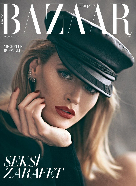 Michelle Buswell Covers Harper Bazaar Turkey Nov Koray