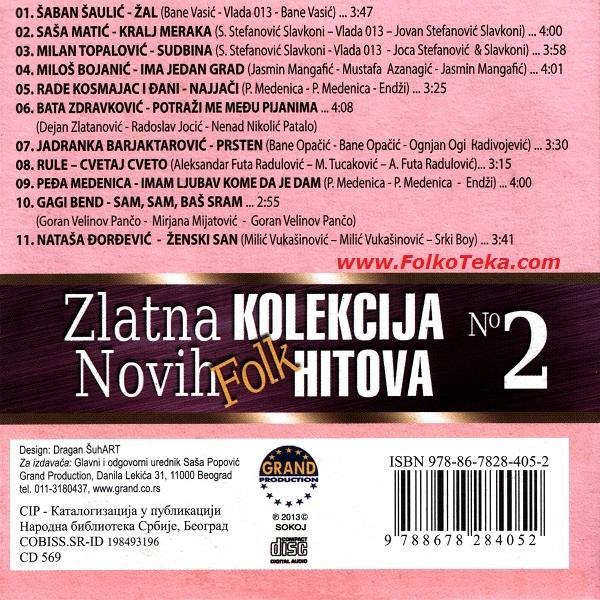 Zlatna Kolekcija Novih Hitova 2013 No 2 b