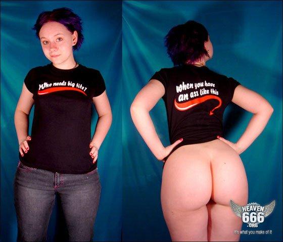 no tits but nice ass