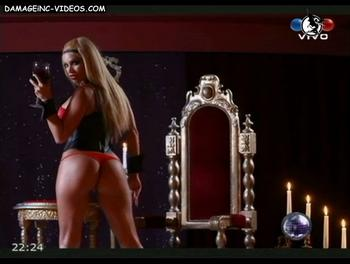 Claudia Fernandez ass in red thong