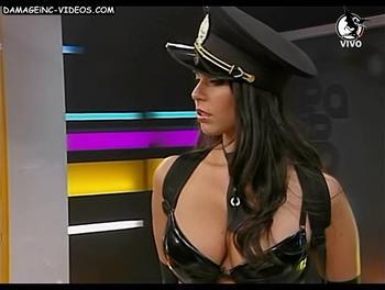 Busty brunette Sabrina Ravelli