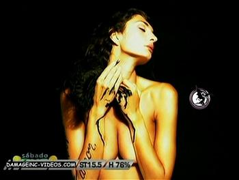 Mariana Arias grabbing her tits