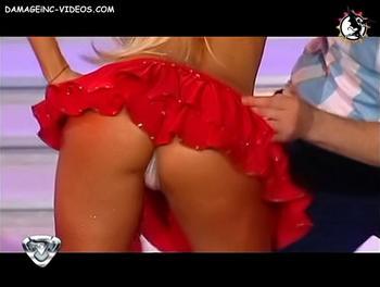Argentina Celebrity Silvina Escudero thong upskirt