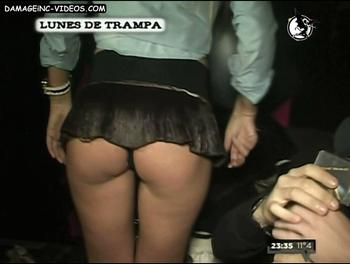 Natali ass in miniskirt