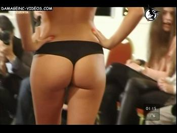 Perfect ass in black thong