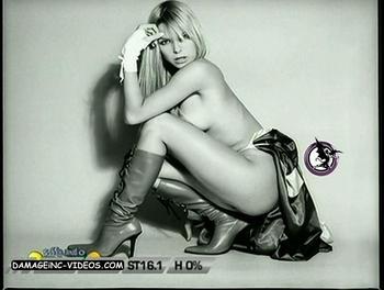 Sofia Zamolo half naked in lingerie